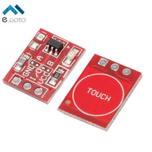 10Pcs TTP223 Touch Key Switch Module Touching Button Capacitive Switches Self-Locking/No-Locking Jog 2.5-5.5V