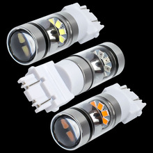 New Super Bright T25 3157 P27/7W Double Reflector Cup LED Car Light Motor DRL Driving Lamp Turn Signal 3156 3057 3456 3757(China)