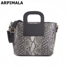 ARPIMALA 2017 PU Leather Handbags Snake Pattern Women Messenger Bag High Quality Ladies Hand Bag Designer Female Work Tote Bag