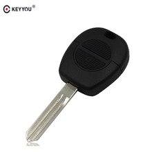 KEYYOU 2 Button Remote Fob Car Key Shell Stying For Nissan Micra Almera Primera X-Trail Replacement Uncut Blade Car Key Case