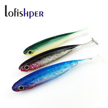 12PC/lot Soft Fishing Lure 6.8cm 2.6g Fake Artificial Bait Fishing Lures Soft Plastic For Spinning Telescopic Fish Free Shipping(China)