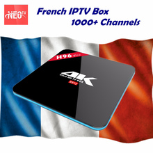 Best Arabic French Benelux NEO+ IPTV code 1000+ LiveTV with H96Pro Android 7.1 Smart TV Box AmlogicS912 4K 3GB/16GB media player(China)
