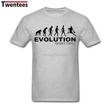 Funny Evolution of basketball Tee Shirt Men Male Short Sleeve Thanksgiving Day Custom XXXL Party T Shirt