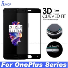 3D Curved Edge Full Cover Screen Protector Film Tempered Glass For OnePlus One Plus 5 3 3T Five Three 1+5 A5000 A3010 A3000