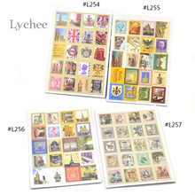 Lychee 1 Set 80pcs European Style Paper Crafts Deco Craft Stamp Stickers Diary Sticker Scrapbooking
