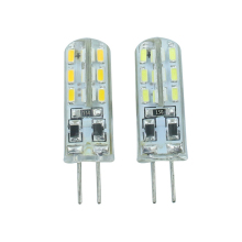 10 pieces G4 SMD3014  LED light  24pcs leds DC12V /AC220V White/warm white with soft silicon ,CE,RoHS