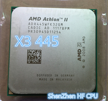 AMD  Athlon X3 445 processor  working 100% Free Shipping (3.1GHz/1.5MB L2 Cache /Socket AM3 CPU Processor scattered pieces