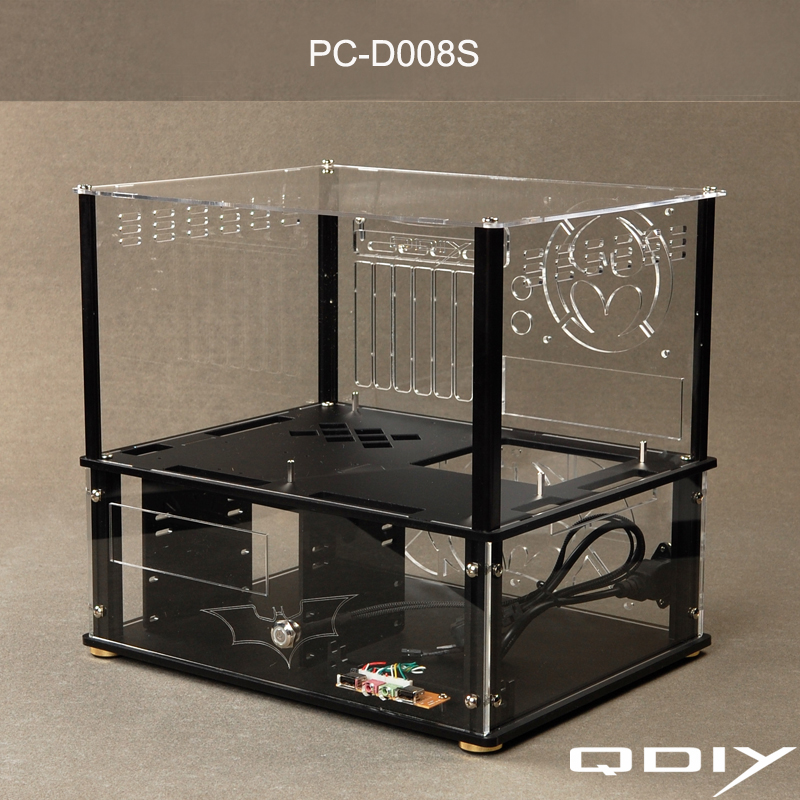 Aliexpress Com Buy Qdiy Pc D008s Colorful Horizontal Atx