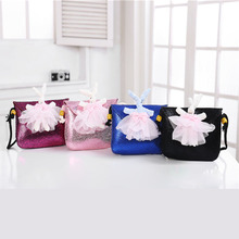 2017 New han edition cute girl child rabbit bag princess fashion bag PU bag  Inclined shoulder bag package baby  cartoon single