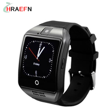 Buy Hraefn Smart Watch phone Q18 Bluetooth smartwatch Support Sim TF sport wristwatch IOS iphone Android samsung xiaomi huawei for $21.44 in AliExpress store