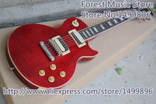 New Arrival Red Slash LP Electric Guitars Solid Mahogany Body As Picture For Sale
