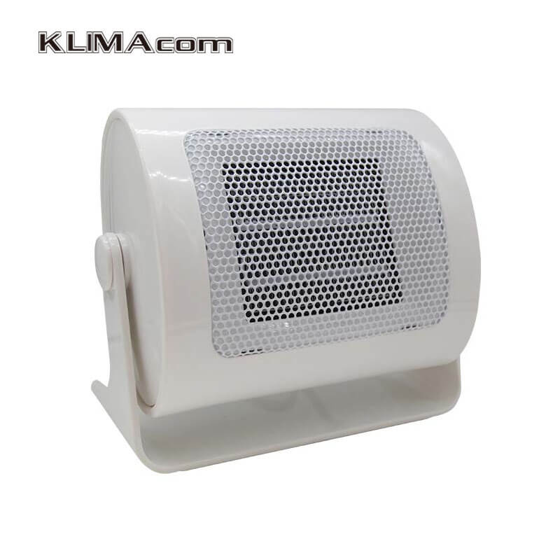 White Mini fan electric heater for study room Portable ceramic PTC Rapid heating Overheating Automatic Ceramic heater 220V 500W<br>