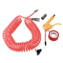 9m PE Spring Pipe Plastic Air Tube Dust Remover Dust Blowing Gun Hose Fittings Gun Dust Remover Cleaning Tool(China)
