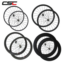 700C 24mm 38mm 50mm 60mm 88mm Clincher Tubular carbon fiber bike road wheels bicycle racing wheelset Basalt Brake Surface