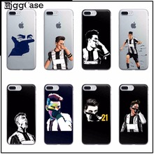 Sport Football Soccer Star Juventus Paulo Dybala TPU Soft Cover For Apple iPhone 7 5 5S SE 6 6S Plus 7 7Plus Phone case Cover(China)