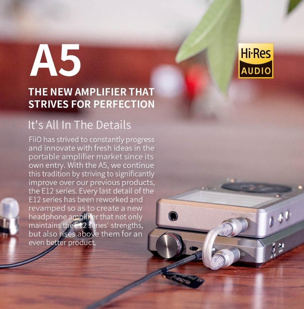 Portable Headphone Amplifier Fiio A5  Dac Amp  Lossless For Mp3 Player Phone Pc Pad EarphoneBundle Small Earpho E12A E12 upgrade