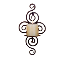 Practical Iron Candle Holder Sconce Hanging Wall Art Candlestick for Decoration Weddings
