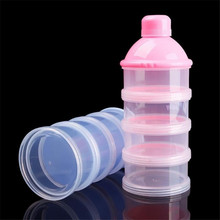 Food Bottle Container 4 Cells Grid Box Home Office Bottle Storage Supply 3 Colors Portable Baby Infant Feeding Milk Powder(China)