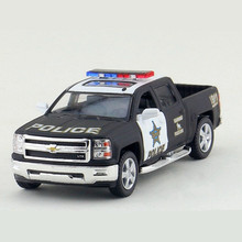 12cm Simulation Alloy Police Toy, 1:46 Scale Diecast Metal Cars Models, Pull Back Cars Models Brinquedos, Toys For Children(China)