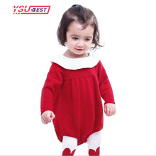 New Arrive Baby Knit Rompers Dress Boys Girls Children Autumn Spring Clothes Suit Infant Long Sleeve Sweater Baby Romper 3 Color