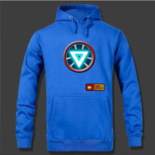 Free Shipping Cutton Fashion Avengers Iron Man Hoodies For Men Nice Gift 6 Colors(China)