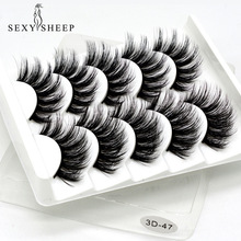 Makeup Extension-Tools False-Eyelashes Beauty SEXYSHEEP Wispy Long 5pairs Natural/thick