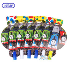 12pcs/lot cartoon Thomas Pirates Mickey Minnie Minions Toy story Hello Kitty Kids baby shower birthday party noise Maker Blowout