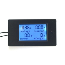 4 In1 Digital Ammeter Voltmeter DC 100V 100A 50A Amp Volt Watt Power Energy Tester Meter LCD Blue Backlight Panel Moduel
