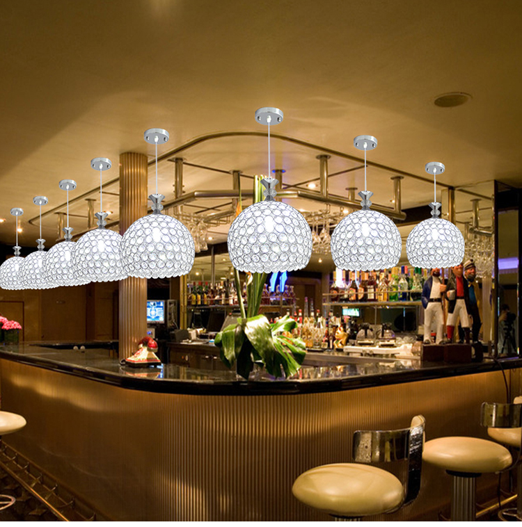 Modern Simple Restaurant Pendant Lights Creative Crystal Bar Desk Home  Lighting 1/3 Heads Corridor Hallway Balcony Lamps ZA   Us468