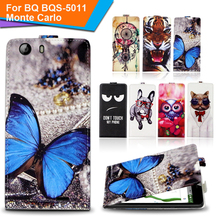 Newest  For BQ BQS-5011 Monte Carlo Factory Price Luxury Cool Printed Cartoon 100% Special PU Leather Flip case,Gift