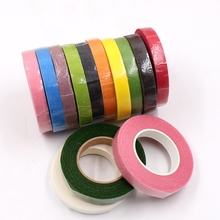 25Meter Paper Garland Tape Artificial Flower Fixed Supplies For Wedding Decoration DIY Wreath Flores Garland Supplies Tape Glue