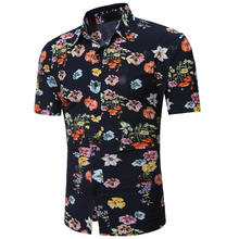 2017 Summer Style Beach Mens Shirts Short Sleeve Party Wear Hawaiian Shirt Male Floral Printed Shirt For Mens Designer S179