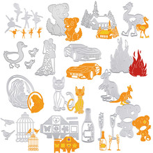 Fansy DIY Photo Cut dies stencil Scrapbooking Embossing Album Paper Card Craft cuttig mold moulds animal party best gift supply