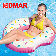 DMAR Inflatable Donut Swimming Ring Giant Pool Float 42 inch Swimming Circle Toys Beach Sea Inflatable Mattress for Kids Adult(China)