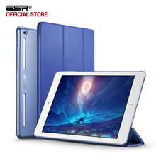 Case for iPad 9.7 2017, ESR PU Leather Front Cover+Soft TPU Bumper Edge+PC Back Auto Sleep Smart case for New iPad 2017 Release(China)
