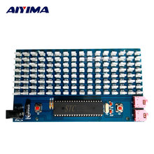 AIYIMA 51SCM Microcontroller Board Music Spectrum Display 8x16MM LED Audio Level Indicator / DIY Kits(China)