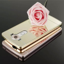 Mirror Case For LG G2 G3 G4 Metal Aluminum Frame+Acrylic PC Plating Back Cover For LG G2 Mirror cases aksesuar miroir espejo <%