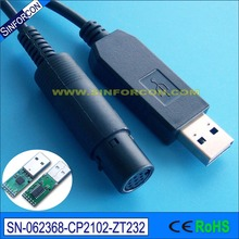 Win8, 8.1, 10, Android, Mac, CP2102 with mini DIN USB RS232 adapter cable