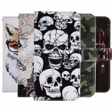 "GUCOON Cartoon Wallet Case for Fly FS505 Nimbus 7 5.0"" Fashion PU Leather Lovely Cool Cover Cellphone Bag Shield(China)"