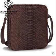 mengzhongmeng New style imported python skin single shoulder bag men's bag of personality slant cross real leather