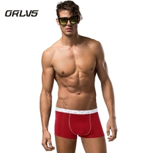 ORLVS Brand Men Underwear Boxers Home Sexy Men Boxers Spandex Modal Underpants Boxers Male Pouch Shorts Boxer H16(China)