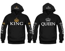 KING AND QUEEN HOODIES VALENTINE NEW MULTI COLORS MATCHING CUTE LOVE COUPLES LU(China)