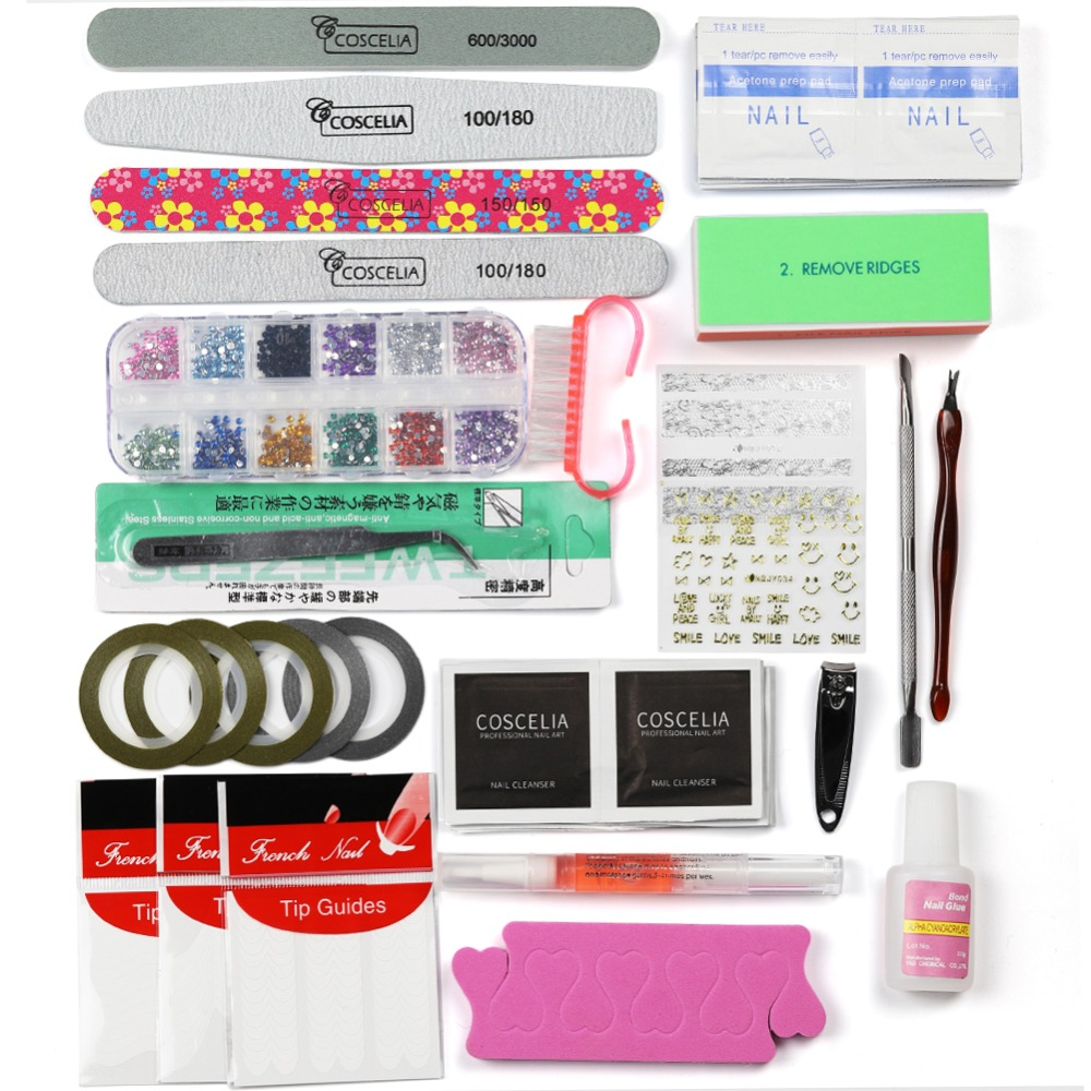 COSCELIA Full Manicure Set With Lamp Gel Nail Polish Set Tools For Manicure Set For Nail Gel Polish All For Manicure Nail Art