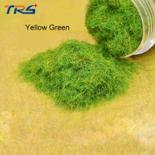 yellow green flock nylon DIY sand table model making lawn grass powder material nylon turf building model making landscape(China)