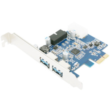 PCI Express 2.0 PCI-E to USB 3.0 Hub PC Card Adapter 5.0Gbps 19 pin Add On Card For Windows XP 7 8 K632(China)
