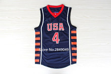 #4 Allen Iverson Team usa Basketball Jersey Embroidery Stitched Custom any Number and name Jerseys