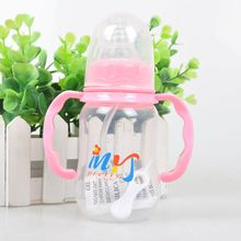 150ML Newborn Baby Kids Straw Cup Drinking Sippy Cups With Handles Cute Design PP Feeding Bottles(China)