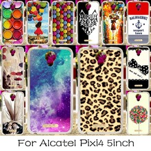 Soft TPU Silicone Mobile Phone Case For Alcatel OneTouch Pixi 4 5.0'' OT-5010 5010D 3G Version Cover Angel Girl Shell Skin