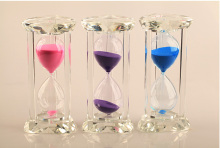15 minutes crystal hourglass Creative decorations ornaments To send his girlfriend a gift