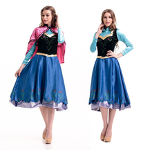 Anime movie Cosplay Doll Anna Snow Princess Series Halloween Cos Animation perform stage party girls cloth for adluts(China)